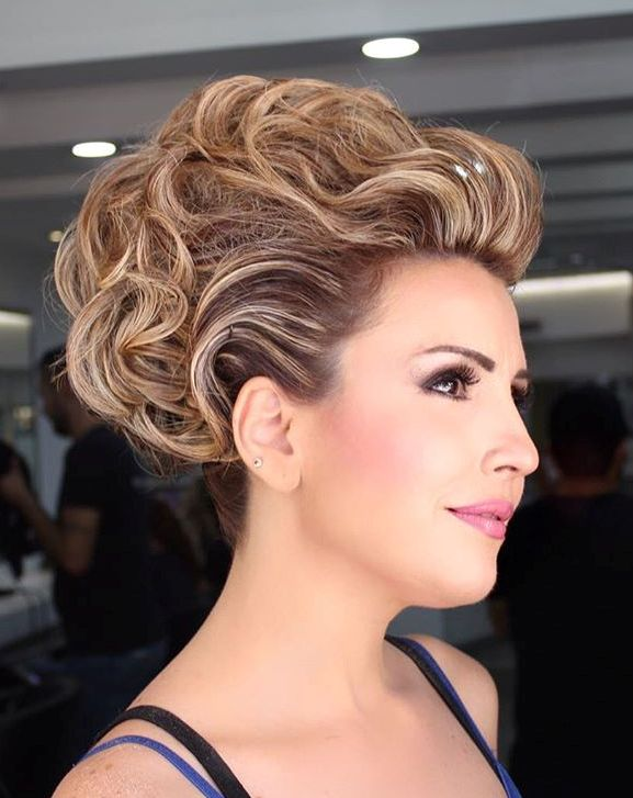 Voluminous Formal Updo For Short Hair