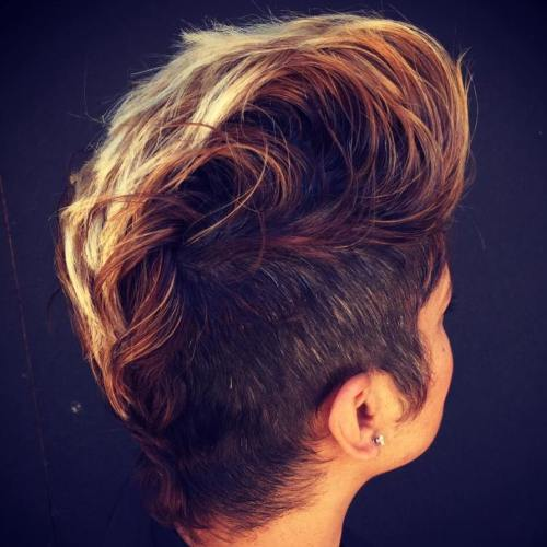 Women's Mohawk With Side Undercuts