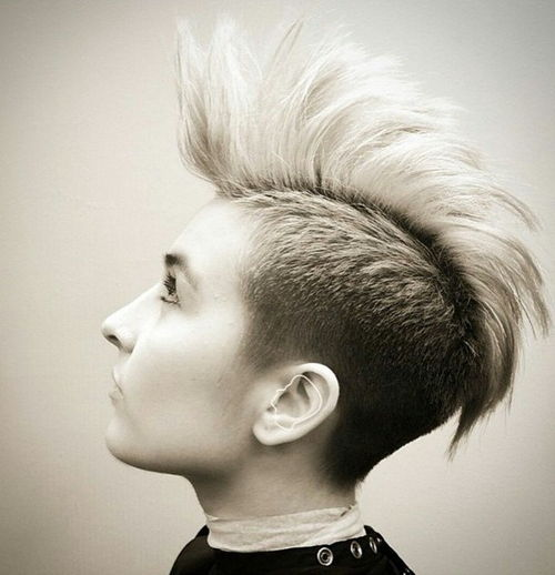 cute mohawk for short hair