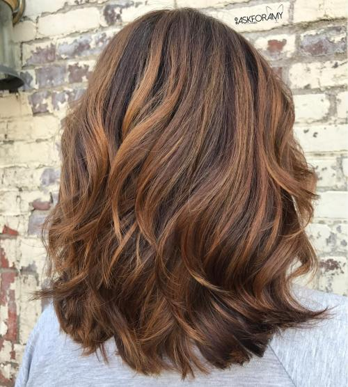 Sensational Medium Length Haircuts For Thick Hair In - Hairstyles for dark brown thick hair