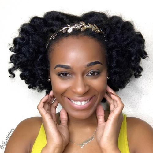Wedding Hairstyle For Natural Curly Hair: 50 Superb Black Wedding Hairstyles