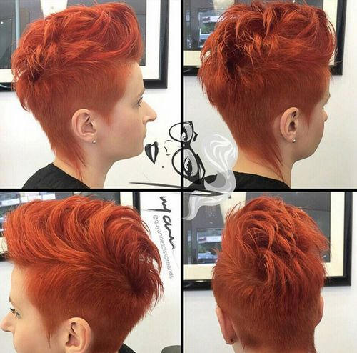short red funky hairstyle