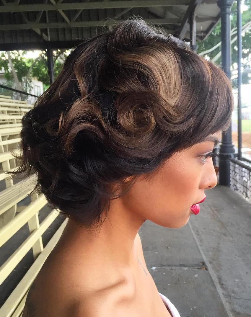 Vintage Wedding Hairstyle For Short Hair