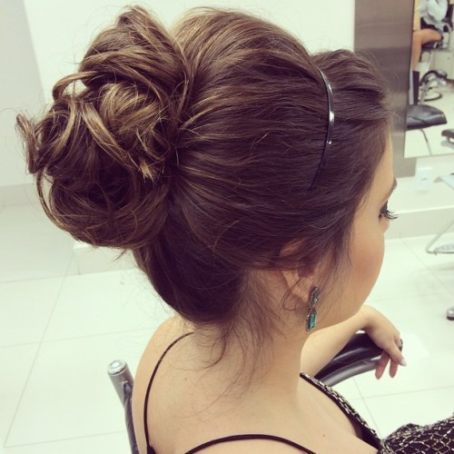 Bun Updo With A Bouffant