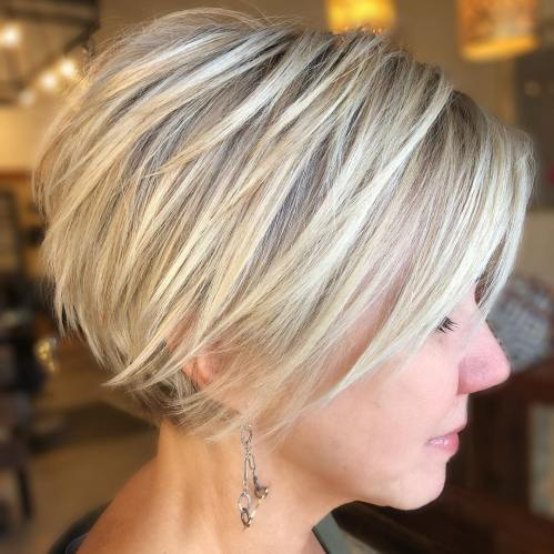 Long Straight Blonde Pixie