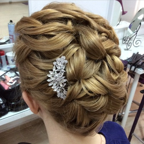 updo styles for short hair 40 best wedding hairstyles that make you say wow 4527 | 13 wedding updo for short hair