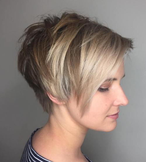 Elongated Choppy Pixie With Tapered Back