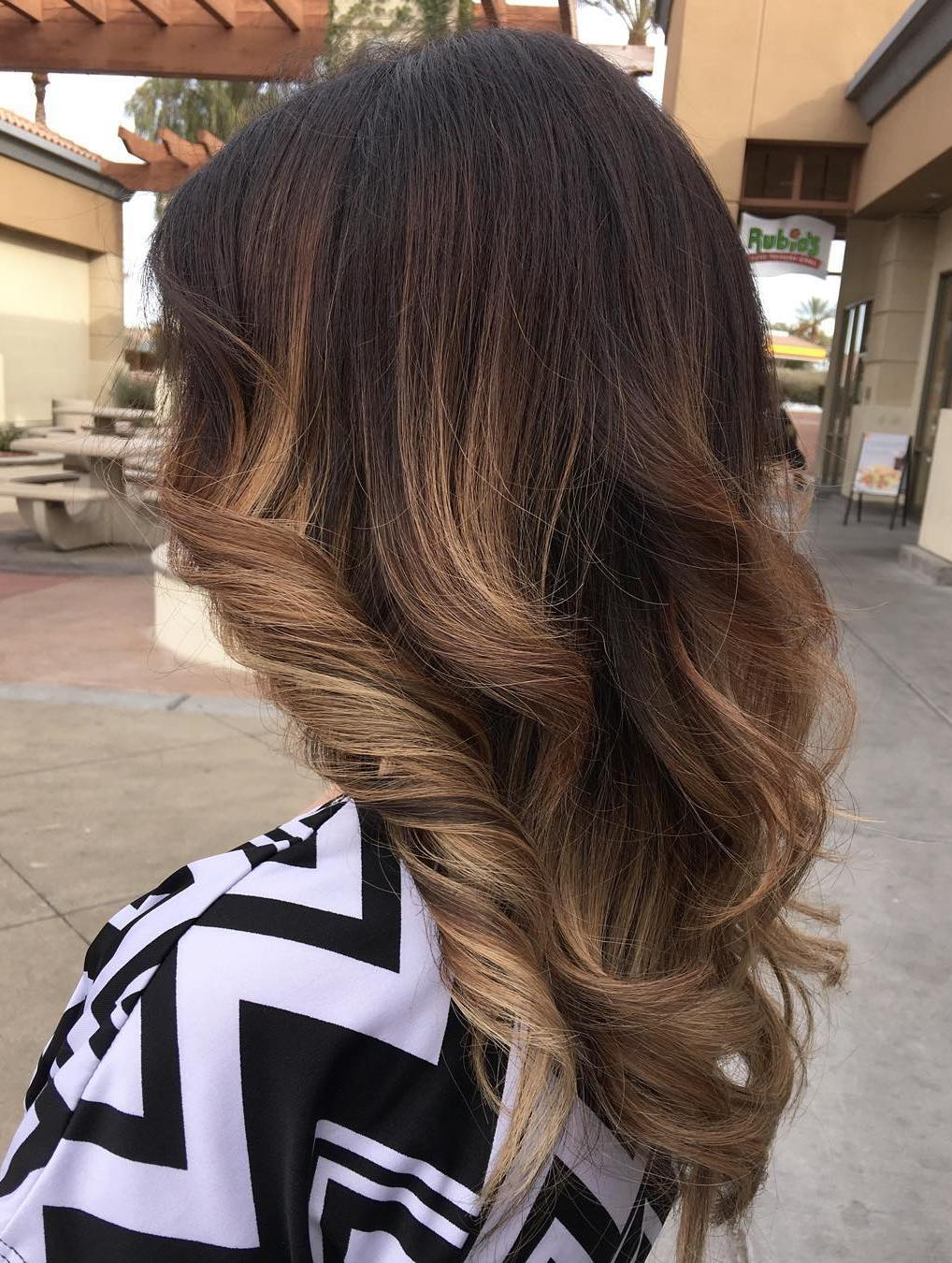 60 hairstyles featuring dark brown hair with highlights ash brown ombre highlights pmusecretfo Choice Image