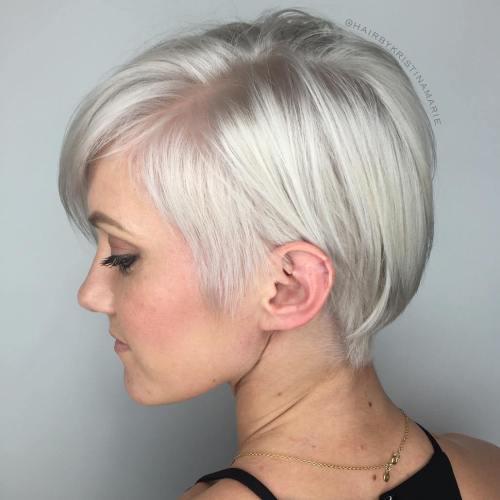 Sleek Metallic-White Pixie Bob