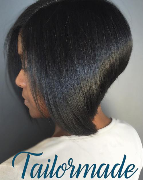 Sleek Straight Stacked Bob