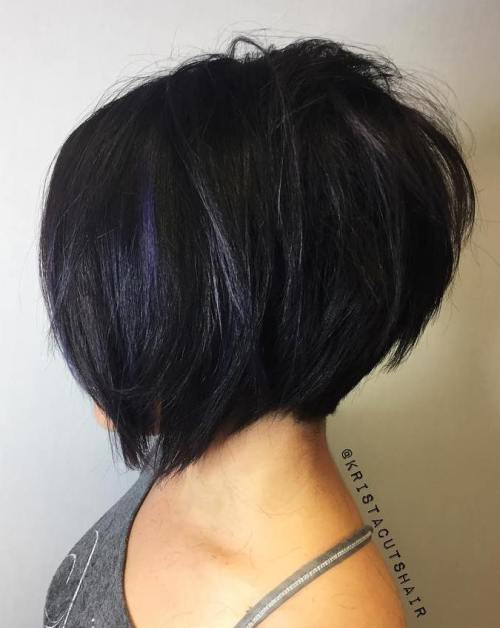 Textured Black Bob With Blue Babylights