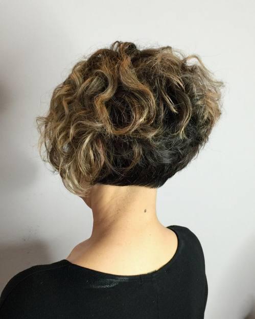 Two-Tone Short Curly Bob