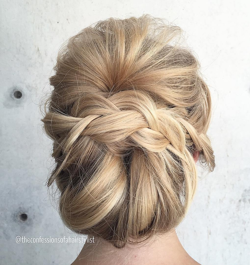 Messy Chignon With Braid