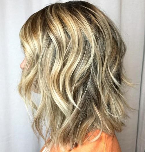 Cool and Warm Blonde Balayage Shag