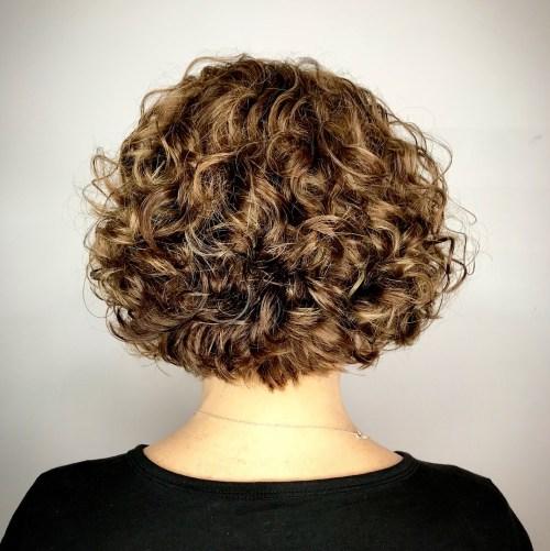 Nape-Length Curly Bob