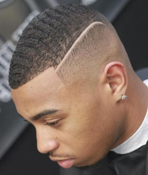 Skin Fade With Shaved Part
