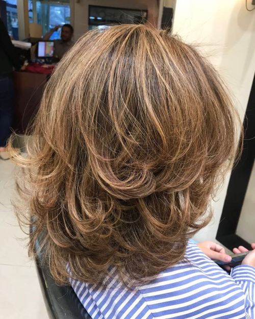layer hair cut style 70 brightest medium length layered haircuts and hairstyles 5743 | 18 blowout with flicked ends