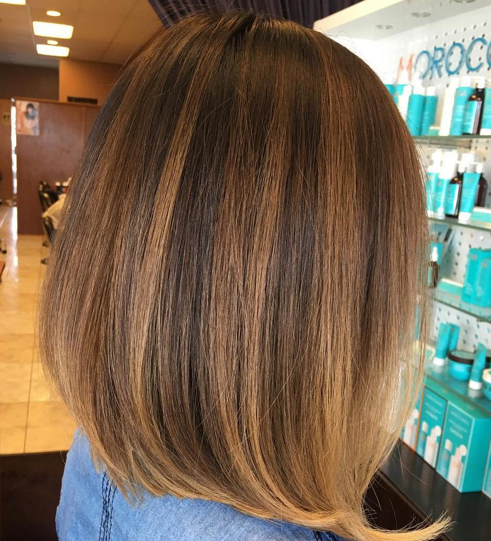 Brown Bob With Subtle Balayage Highlights