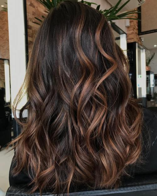 Caramel Highlights For Brunettes