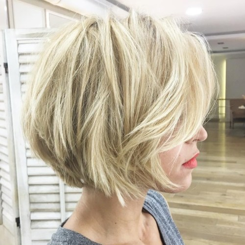Short Blonde Bob With Layers For Fine Hair