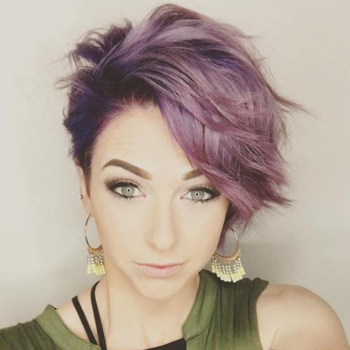 Short Pastel Purple Hairstyle
