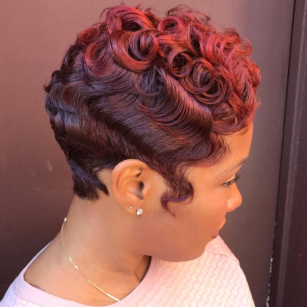 African American Curly Vintage Pixie