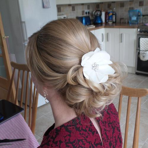 blonde prom updo for long hair
