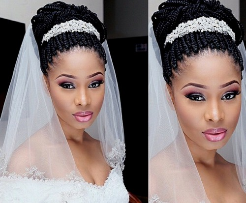 box braids updo for wedding