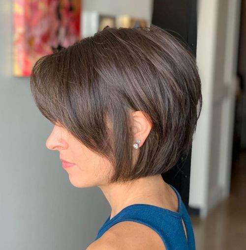 Jaw-Length Cut For Thin Hair