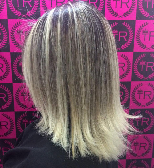 Medium Balayage Ombre Hairstyle