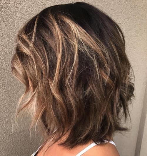 Medium Layered Brunette Hairstyle