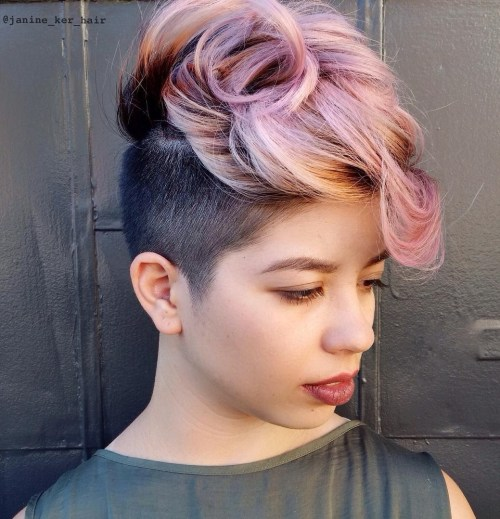 short two-tone undercut hairstyle