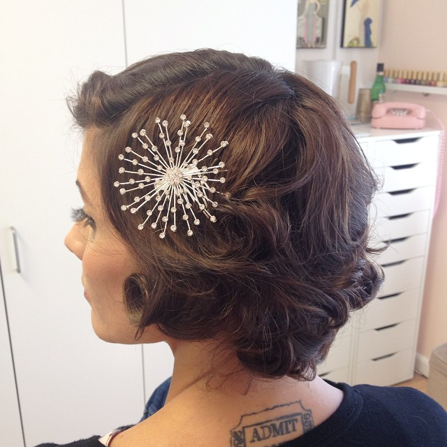 hairstyles for weddings short hair. vintage bridal hairstyle for short hair hairstyles weddings p