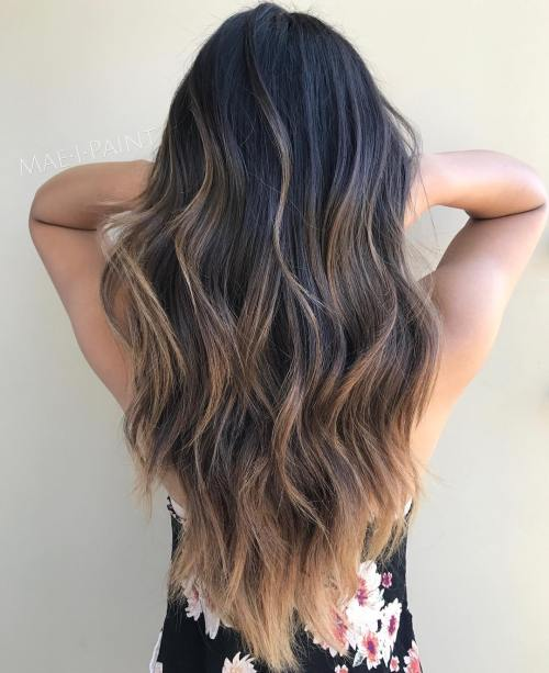 Really long hair with layers