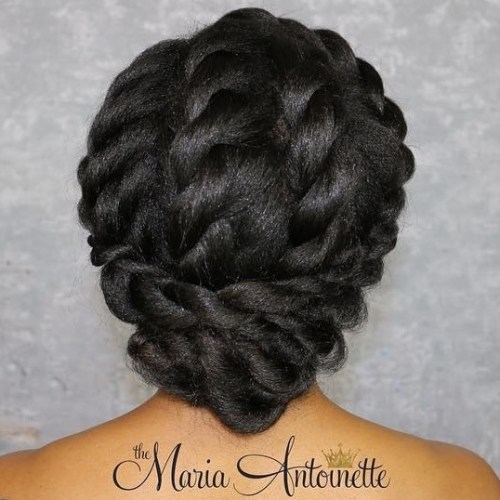 Elegant Twisted Updo For Black Hair