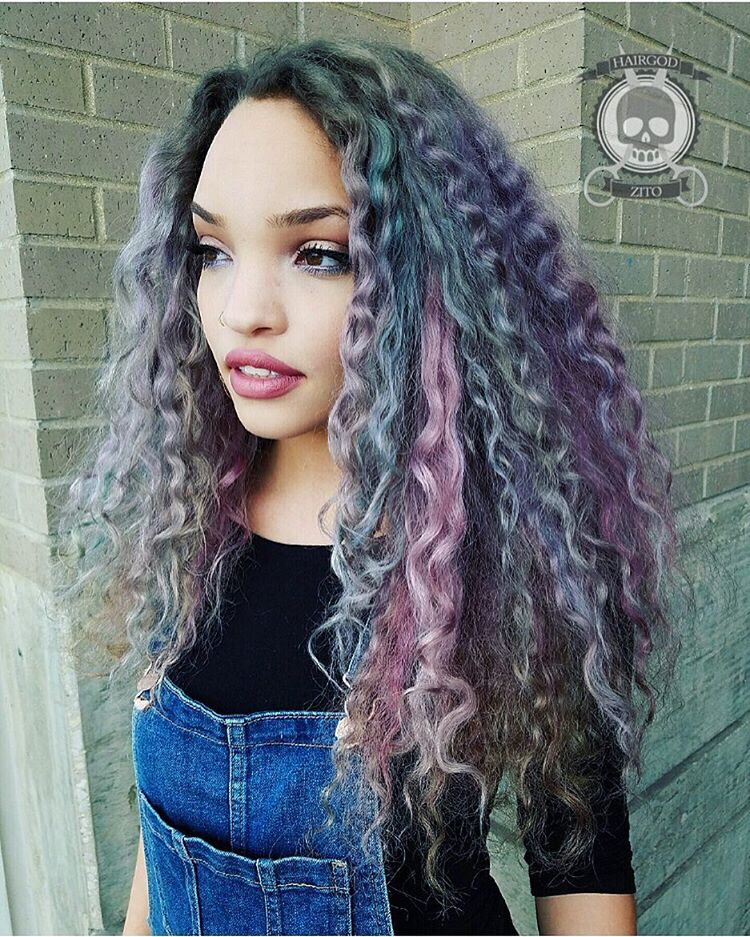 gray and pastel purple weave