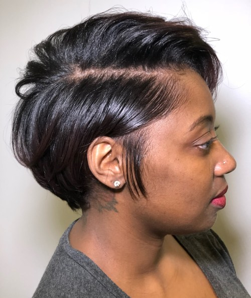 Short Black Haircuts Women 17
