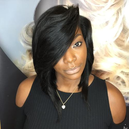 Inverted Sew-In Bob