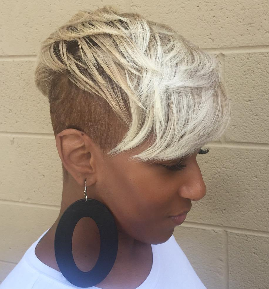 Short Blonde Undercut For Black Women