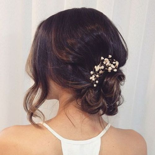 40 best short wedding hairstyles that make you say wow simple messy bridal updo junglespirit Gallery