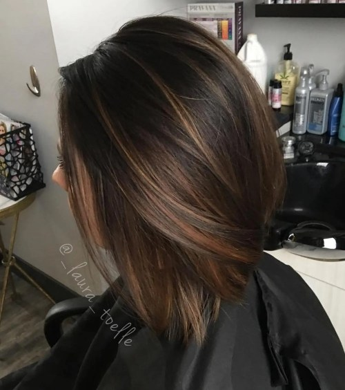 60 hairstyles featuring dark brown hair with highlights