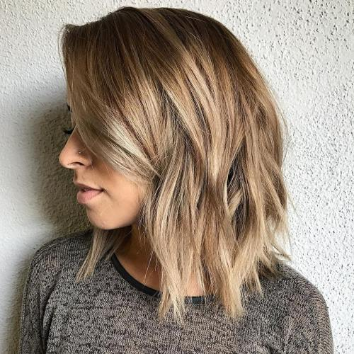 Mid-Length Choppy Cut With Bangs