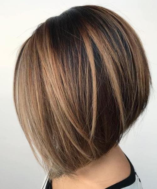 60 hairstyles featuring dark brown hair with highlights - Balayage bob braun ...