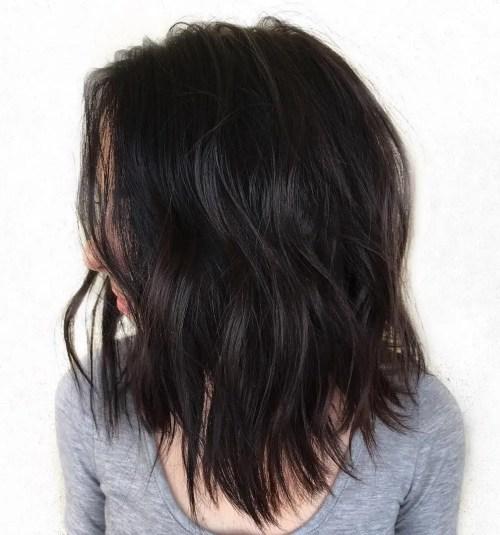 Medium Choppy Haircut For Thick Hair