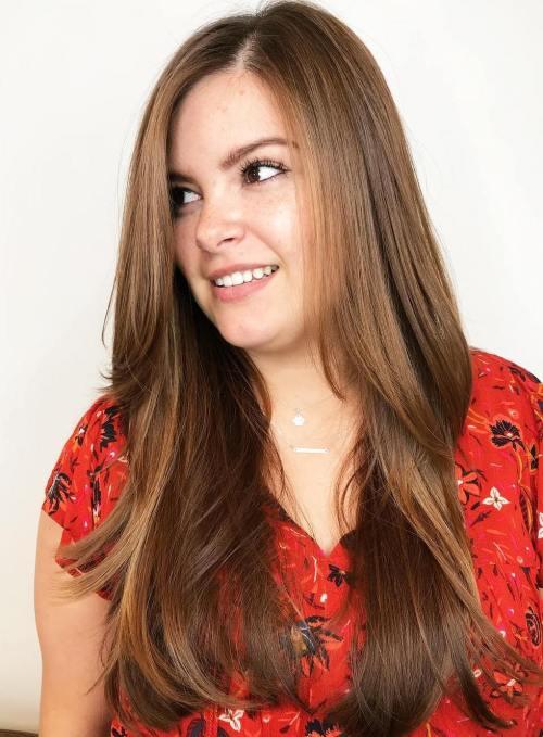 Long Caramel Brown Hairstyle