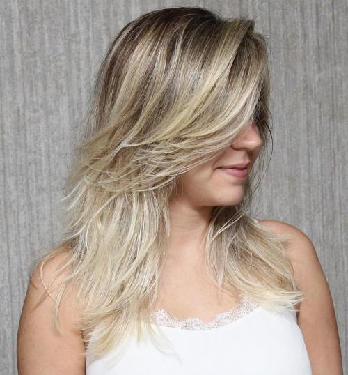 Mid-Length Layered Haircut For Fine Hair