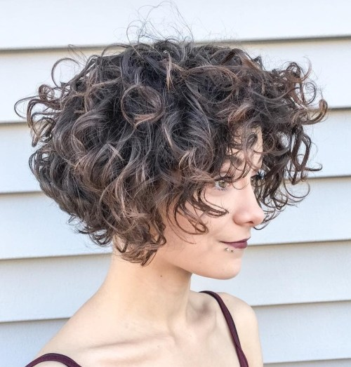 Voluminous Short Curly Bob