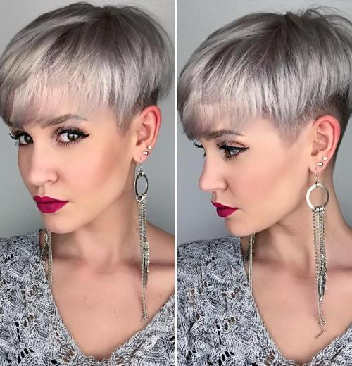 100 mind blowing short hairstyles for fine hair ash blonde layered undercut urmus Gallery