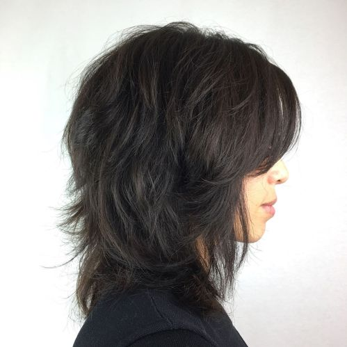 Mid-Length Cut With Razored Layers