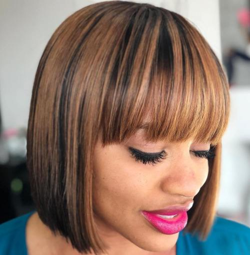 Blunt Bob For Black Women